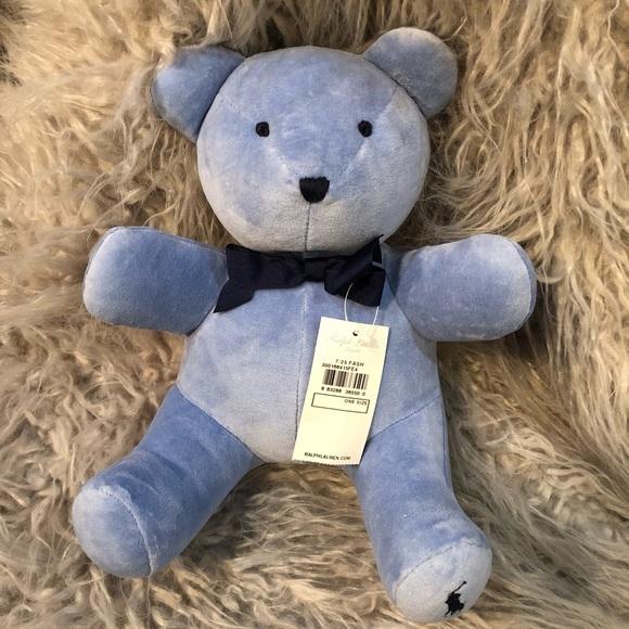 584dc9721d22b Ralph Lauren Polo bear baby blue collectible